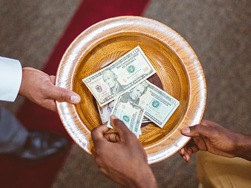 The Finance and Offering Team helps with the counting of offerings and the development of the church budget and financial policies.